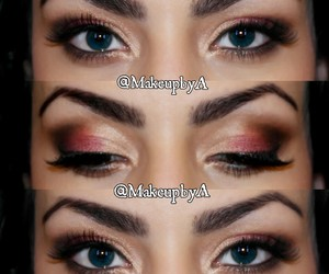 makeup, color, and eye makeup image