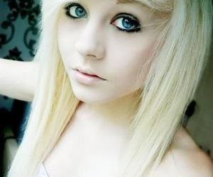 blonde, blue eyes, and scene image