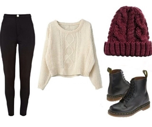 beanie, winter, and sweater image