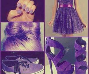 purple, dress, and nails image