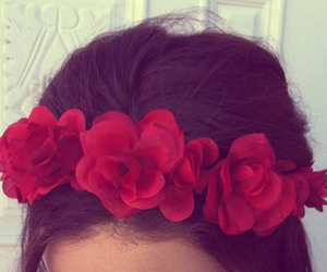 hair, fashion, and rose image