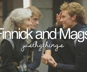 finnick, mags, and catching fire image