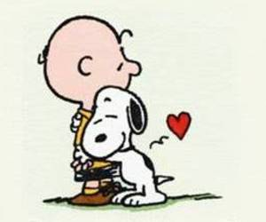snoopy, charlie brown, and hug image