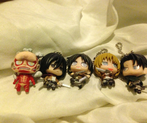 charms, levi, and eren image