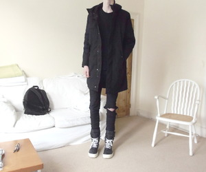 black, clothed, and fashion image