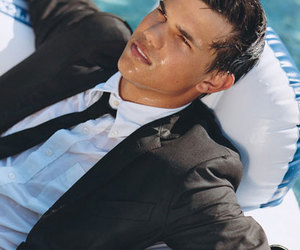 suit, Taylor Lautner, and Teen Vogue image