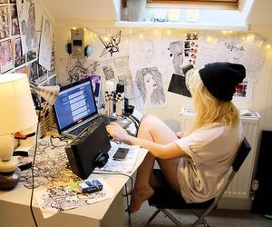 girl, room, and tumblr image