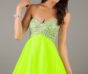 beauty, hairstyle, and short dress image