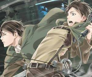 anime, fan art, and levi and eren image