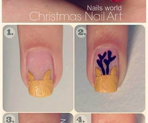 nails, christmas, and tutorial image