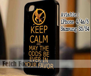 keep calm, hunger games, and iphone 4 4s 5 5s 5c case image