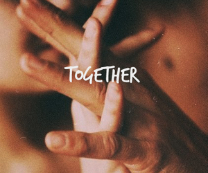 him, together, and love image