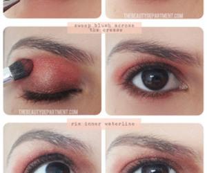 blush, eye, and eyes image