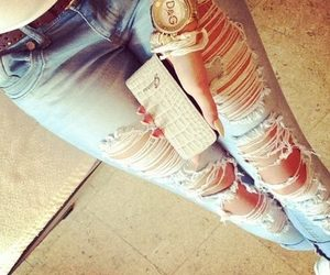beautiful, jeans, and love image