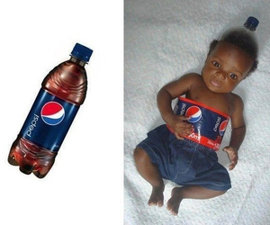Pepsi, baby, and funny image
