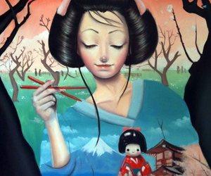 doll, geisha, and japan image