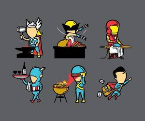 thor, superman, and wolverine image