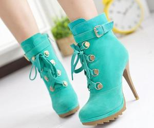 boots, green, and heels image