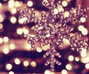 christmas, light, and snow image