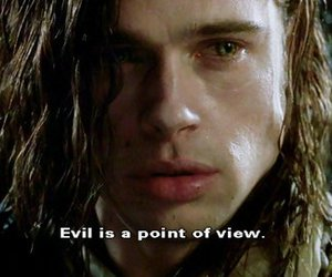 brad pitt, evil, and quote image