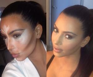 kim kardashian, make up, and makeup image