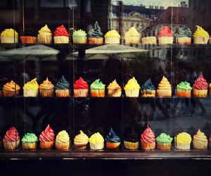 colorful, cupcakes, and colors image