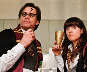 harry potter, jim carrey, and zooey deschanel image