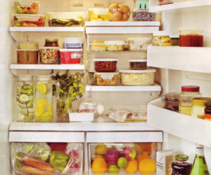 food, healthy, and fridge image