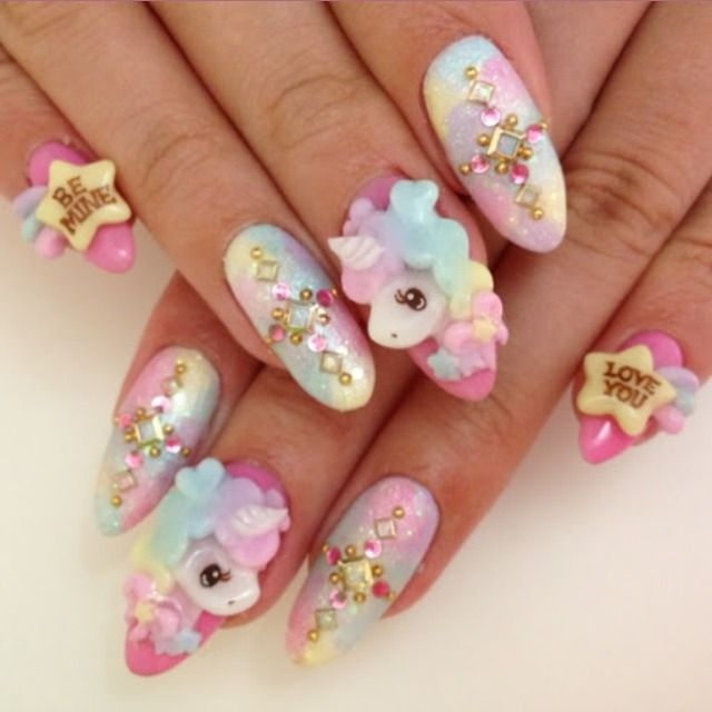 64 images about Kawaii/3D Nail Art!!🎀(^w^) on We Heart It | See more about  kawaii, nails and 3d nails - 64 Images About Kawaii/3D Nail Art!!🎀(^w^) On We Heart It See