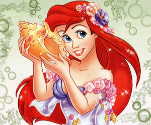 the little mermaid, ariel, and beauty image