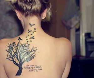 birds, quotes, and tree image