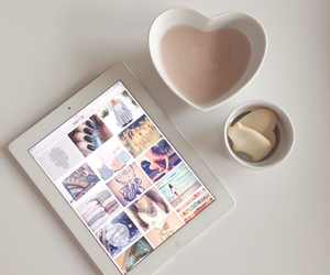 ipad, heart, and coffee image