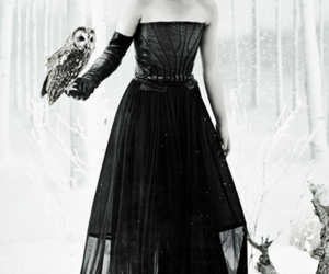 blank and white, dark, and evanna lynch image