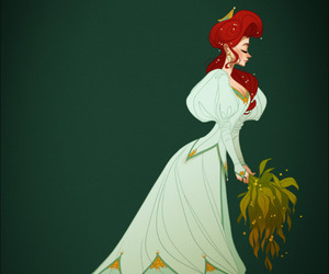 ariel, disney, and seaweed bouquet image