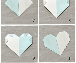 diy, heart, and origami image