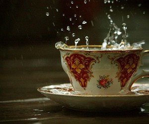 water, cup, and tea image
