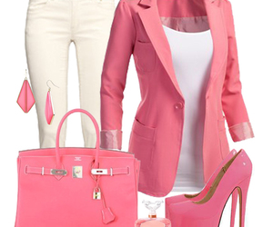 pink, outfit, and bag image