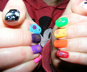 nails, nail art, and hands image