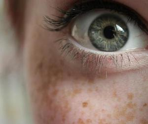 eyes, eye, and freckles image