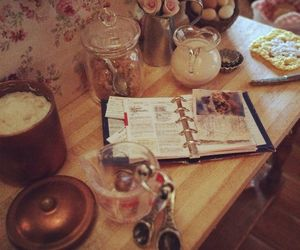 baking, cook book, and floral image