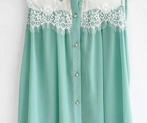 fashion, lace, and shirt image