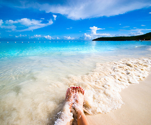 beach, boat, and relax image