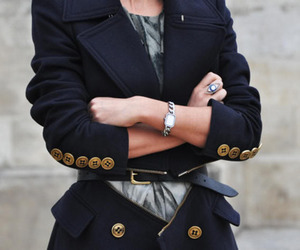 buttons, coat, and style image