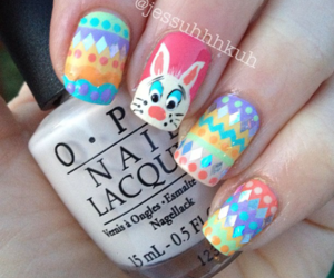 blue, easter, and nail image