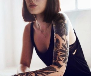 bra, girl, and Tattoos image