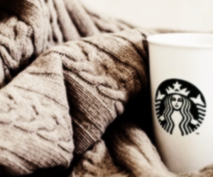 cozy, header, and starbucks image