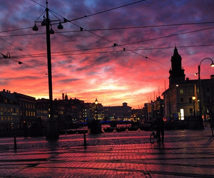 city, colors, and goteborg image