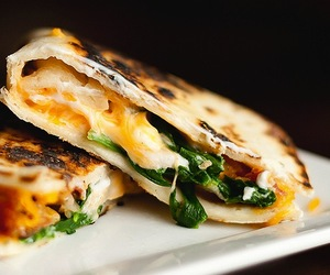 food, spinach, and cheese image
