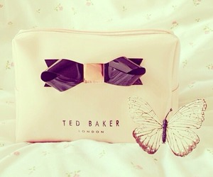 bag, bows, and butterfly image