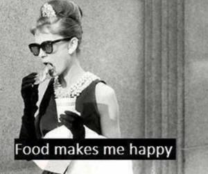 food, happy, and audrey hepburn image
